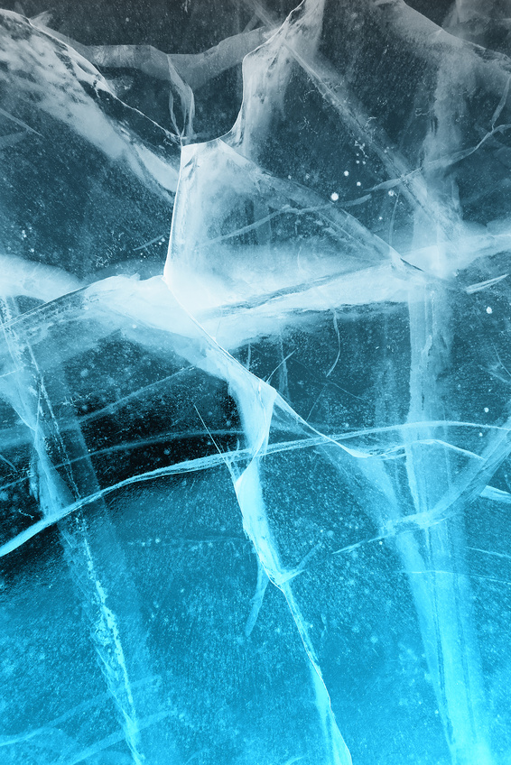 Abstract frozen ice background
